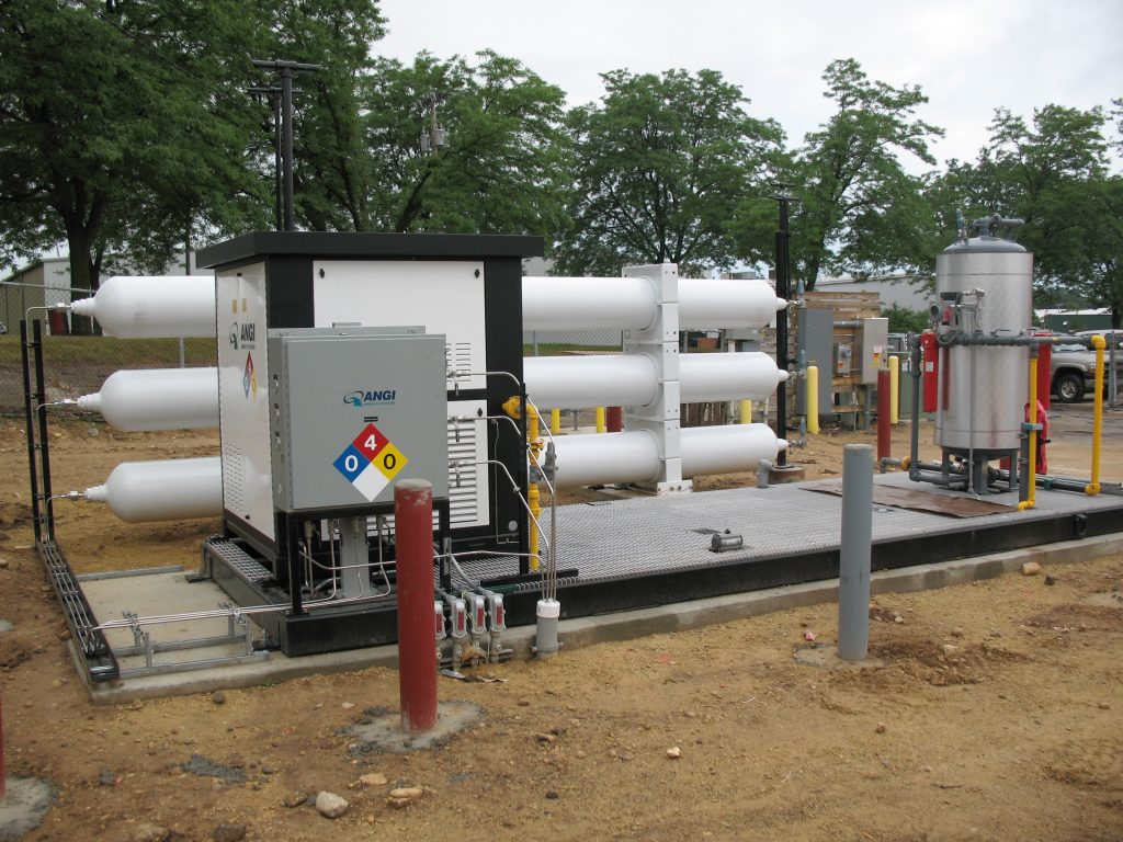 Dane County compress natural gas system