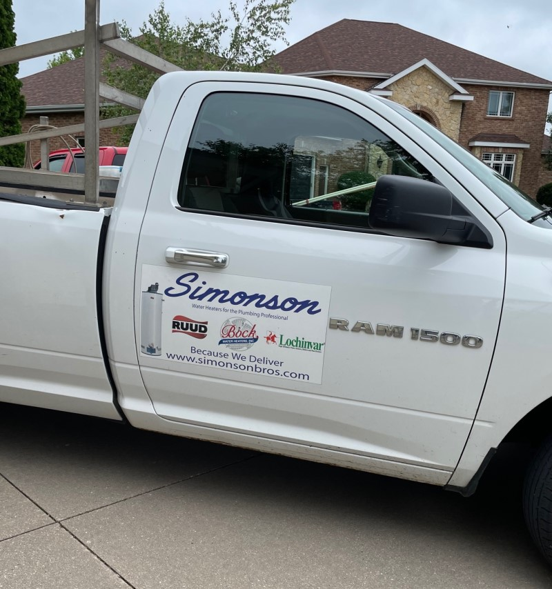 Simonson Brothers Supply truck